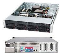 Сервер Rack 2U, 1xXeon E3-1200 v5/v6, 4xDDR4 UDIMM 2400, 8x3.5HDD, RAID 0,1,10,5, 2xGLAN, 600W