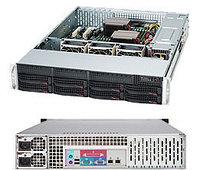 Сервер Rack 2U, 1xXeon E3-1200 v5/v6, 4xDDR4 UDIMM 2400, 8x3.5HDD, RAID 0,1,10,5, 2xGLAN, 2x720W