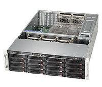 Сервер Rack 3U, 1xXeon E3-1200 v5/v6, 4xDDR4 UDIMM 2400, 16x3.5HDD, RAID 0,1,10,5, 2xGLAN, 2x920W