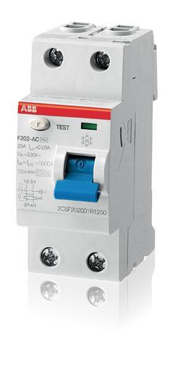 2CSF202001R1250 Выкл.диф.тока 2мод. F202 AC-25/0,03