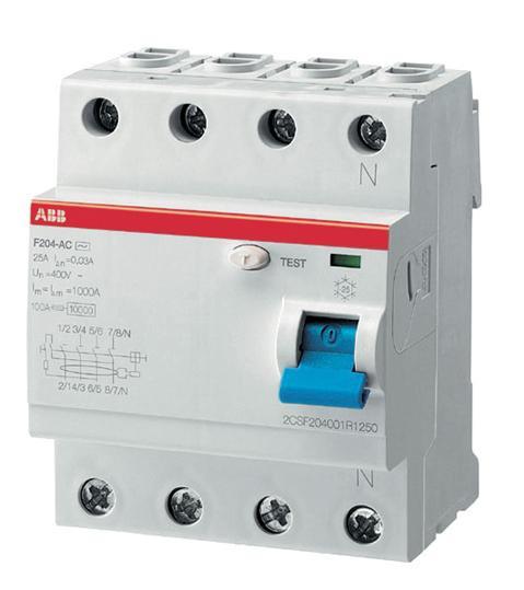 2CSF204001R1250 Выкл.диф.тока 4мод. F204 AC-25/0,03