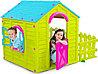 Детский игровой домик Keter садовый зелёный-бирюзовый