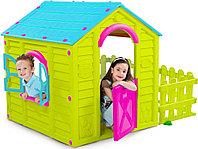 Детский игровой домик Keter садовый зелёный-бирюзовый, фото 1