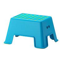 Табурет-лестница БОЛЬМЕН синий ИКЕА, IKEA, фото 1