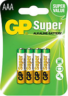 Батарейки LR03 AAA 4 шт GP Batteries Super alkaline