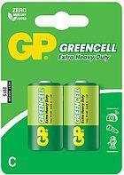 Батарейки R14 C 2 шт GP Batteries Greencell