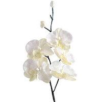 Декор Орхидея из шелка на клипсе перламутр 31см KA629626