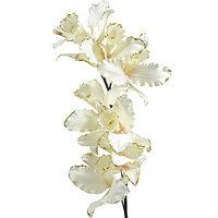 Декор Орхидея на стебле из шелка кремовая 78см  KA628879