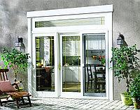 Двери алюминиевые с декоративной раскладкой