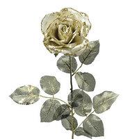 Декор Роза из шелка золотая h=76см KA628873