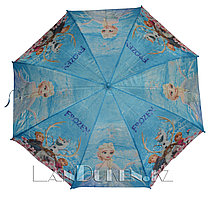 """Зонт-трость детский голубой """"Холодное сердце"""" (класс 2)"""