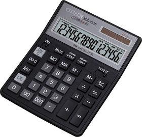 Калькулятор 16 разрядов, 15.8x20.5см, черный Citizen