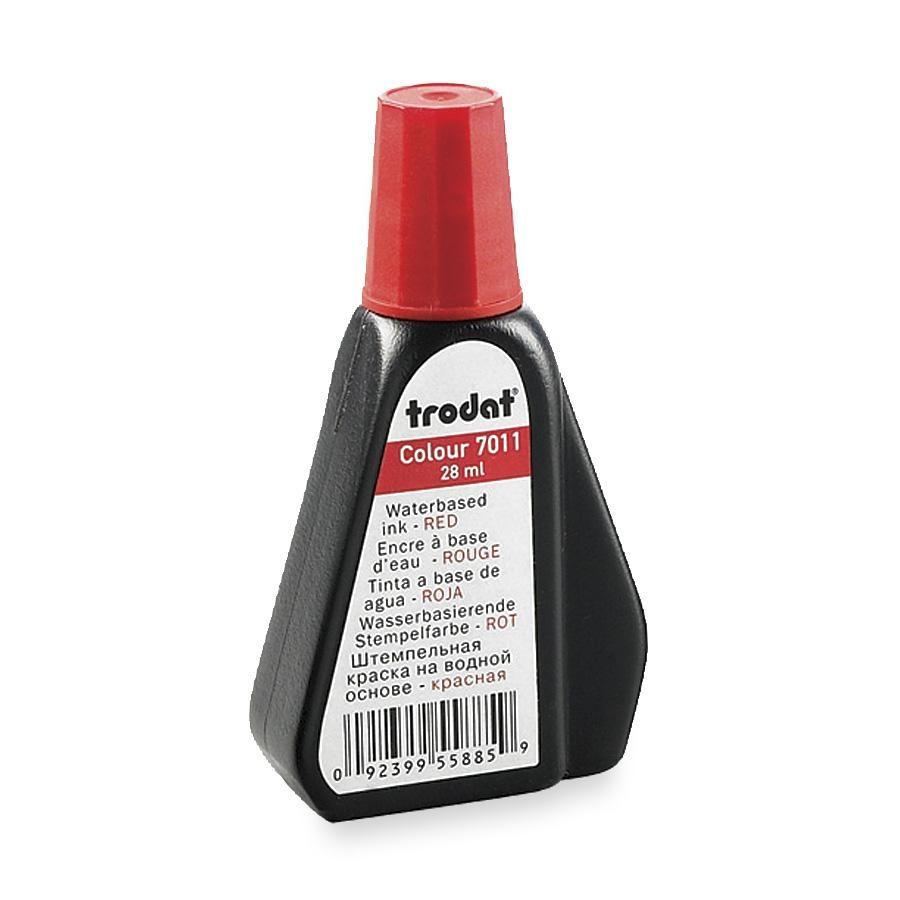 Штемпельная краска  Trodat 28мл, красная 7011