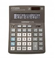 Калькулятор 16 разрядов, 15.5x20см, черный Citizen Correct