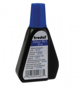 Штемпельная краска  Trodat 28мл, синяя 7011