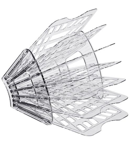 Лоток 7-ми секционный тонированный серый веером, СТАММ