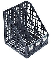 Лоток вертикальный сборный 3 отделения черный, СТАММ