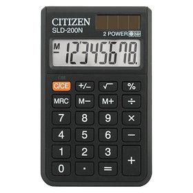 Калькулятор карманный 8 разрядов, 6,0x10см, черный Citizen