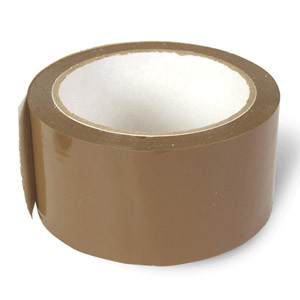 Лента клейкая 48ммх50м, упаковочная, коричневая KLL
