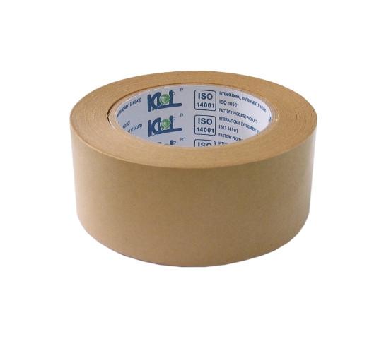 Лента клейкая 50ммx50м, бумажная, коричневая KLL