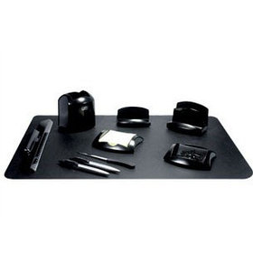 Набор настольный 10 предметов, пластик, черный O-life