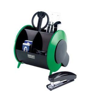 Набор настольный 11 предметов, пластик, зеленый/черный O-Life