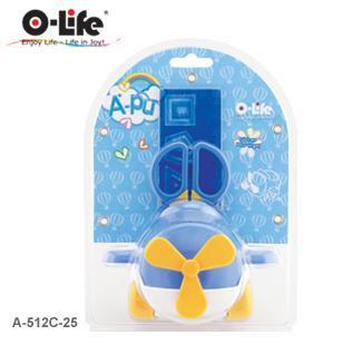 """Набор настольный 4 предмета, детский """"Вертолет"""", крутящийся, пластик, голубой O-Life"""