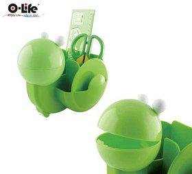 """Набор настольный 4 предмета, детский """"Улитка"""", крутящийся, пластик, зеленый O-Life"""