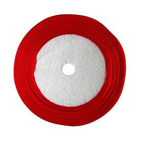 Лента атласная 0,5см SLV 32м красная