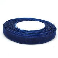 Лента атласная 0,5см SLV 32м синяя
