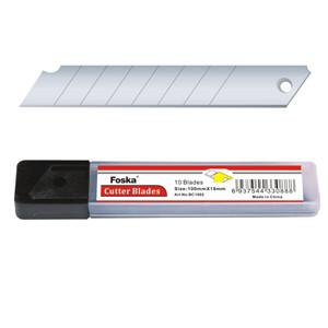 Лезвия 9 мм., запасные для канцелярского ножа, 10шт, Foska