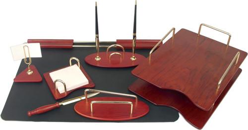 Набор настольный 7 предметов, красное дерево(отделка метал.фурнитурой) Good Sunrise