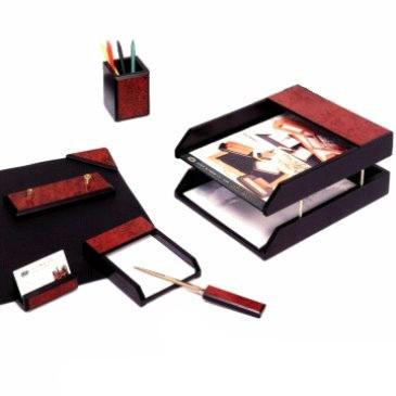 Набор настольный 7 предметов, черный/красное дерево Good Sunrise