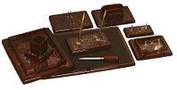 Набор настольный 9 предметов, дерево, темная вишня/бордовый мрамор Grand, фото 4