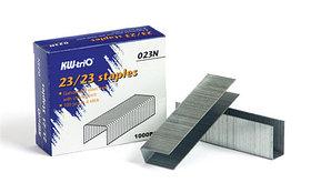 Скобы для степлера №23/20, 160-200л, 1000шт, оцинкованные  KW-trio