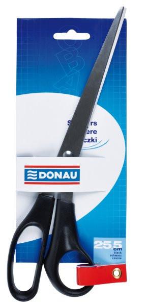 Ножницы 25.5см, ручки черные Donau