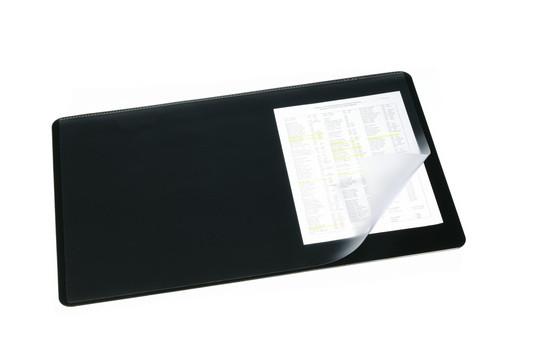 Покрытие настольное 40х53см, черное, с прозрачным верхом Durable