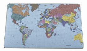 Покрытие настольное 40х60см, прозрачное, с картой мира Durable
