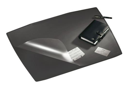 Покрытие настольное 52х65см, форма трапеции, серое, с прозрачным верхом Durable