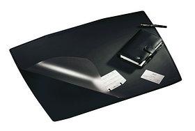Покрытие настольное 52х65см, форма трапеции, черное, с прозрачным верхом Durable