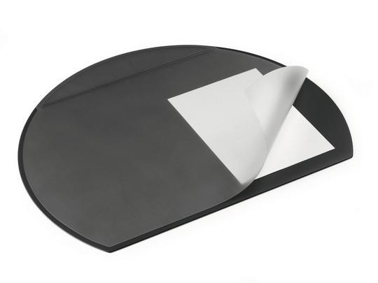 Покрытие настольное 52х65см, черное, с прозрачным верхом Durable