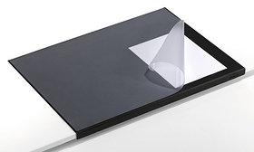 Покрытие настольное 52х65см, черное, с прозрачным верхом, с загнутым краем Durable