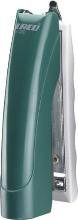 Степлер №10, 1-20л, пластик, зеленый Laco