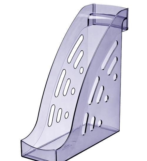 Лоток вертикальный ТОРНАДО тонированный голубой, ширина 9.5 см, СТАММ