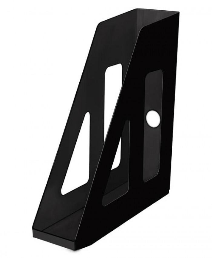 Лоток вертикальный АКТИВ черный, ширина 7 см, СТАММ