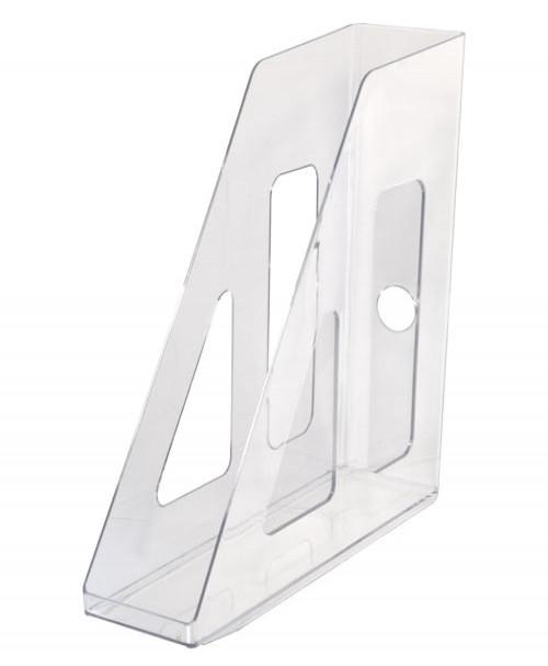 Лоток вертикальный АКТИВ прозрачный, ширина 7 см, СТАММ