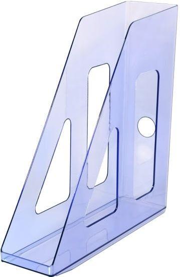 Лоток вертикальный АКТИВ тонированный голубой, ширина 7 см, СТАММ
