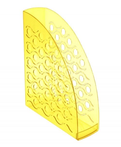 Лоток вертикальный ВЕГА тонированный  желтый YELLOW, ширина 9 см, СТАММ