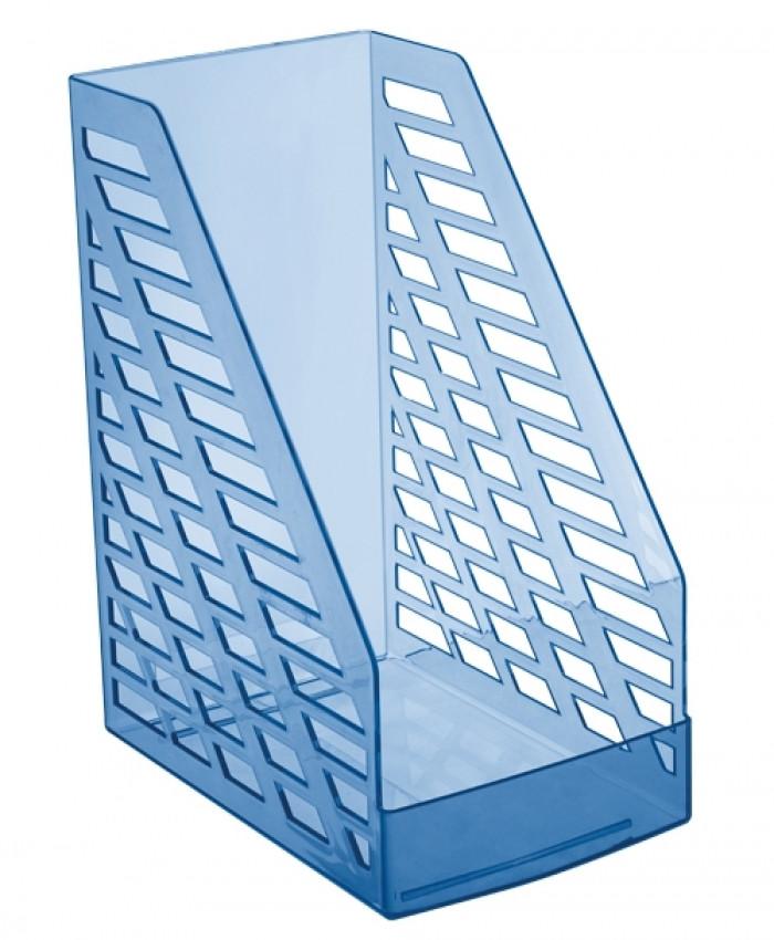 Лоток вертикальный STAMM XXL тонированный голубой, ширина 16 см, СТАММ