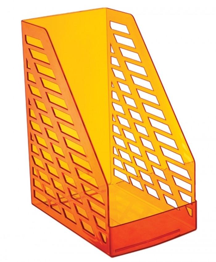 Лоток вертикальный STAMM XXL тонированный ORANGE, ширина 16 см, СТАММ